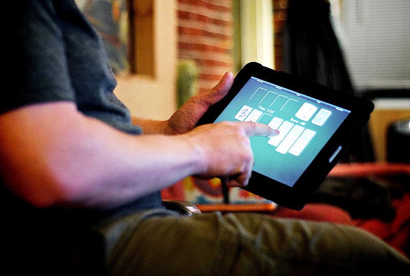 Playing games on iPad